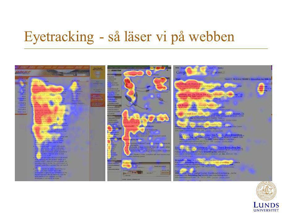 Eyetracking - så läser vi på webben