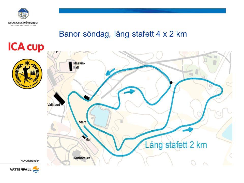 Banor söndag, lång stafett 4 x 2 km