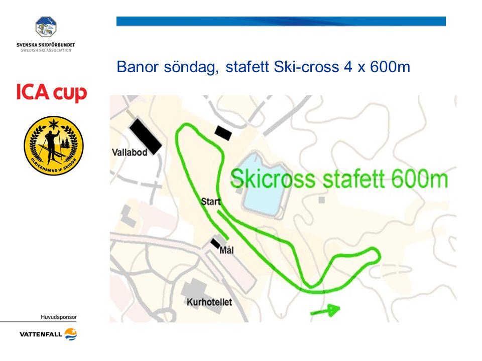 Banor söndag, stafett Ski-cross 4 x 600m