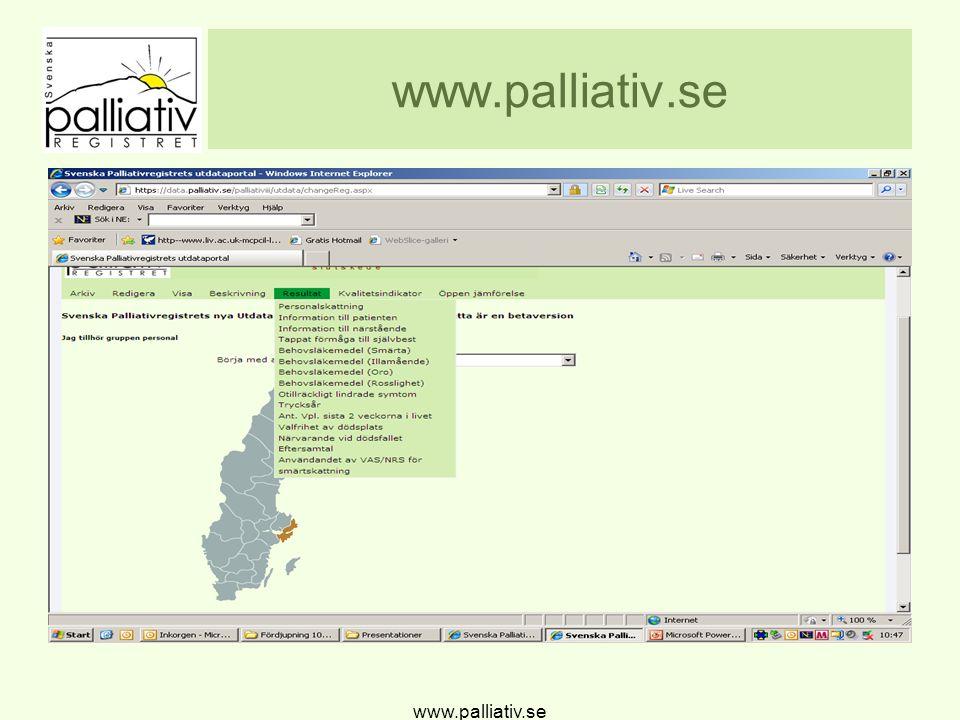 Täckningsgrad Stockholms län www.palliativ.se
