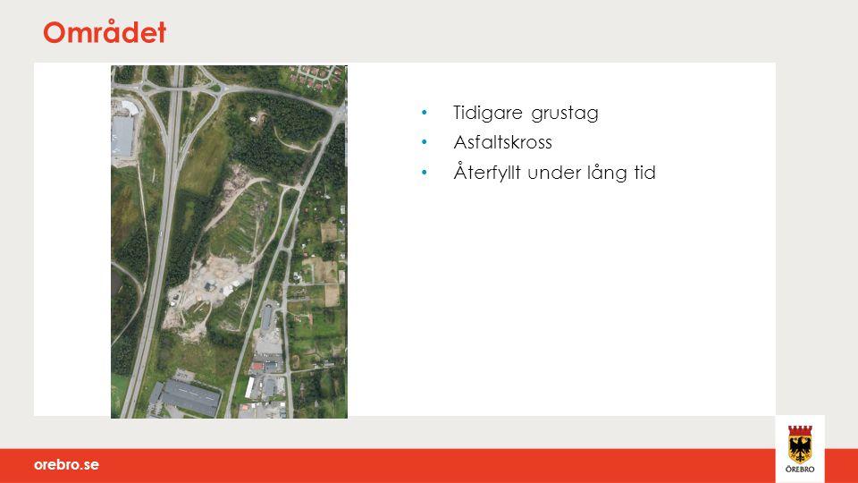orebro.se Området Tidigare grustag Asfaltskross Återfyllt under lång tid