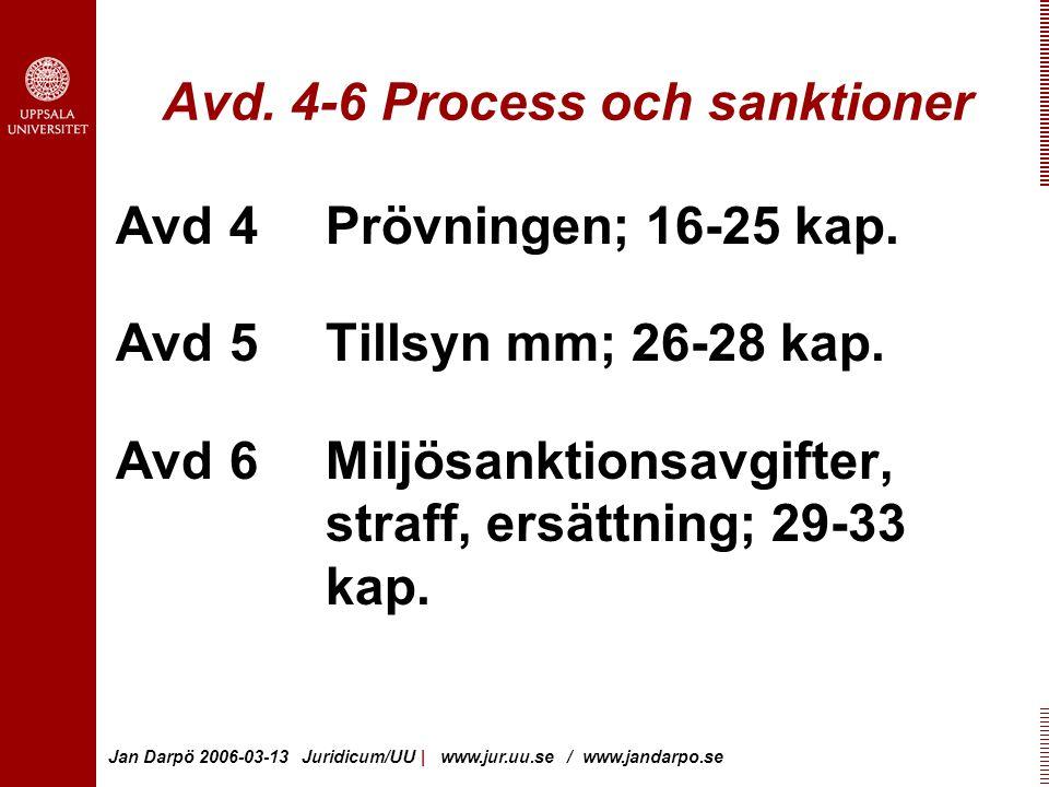 Jan Darpö 2006-03-13 Juridicum/UU | www.jur.uu.se / www.jandarpo.se Avd.
