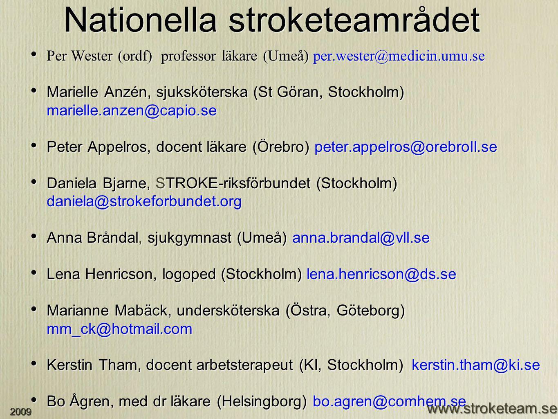 Per Wester (ordf) professor läkare (Umeå) per.wester@medicin.umu.se Marielle Anzén, sjuksköterska (St Göran, Stockholm) marielle.anzen@capio.se Peter