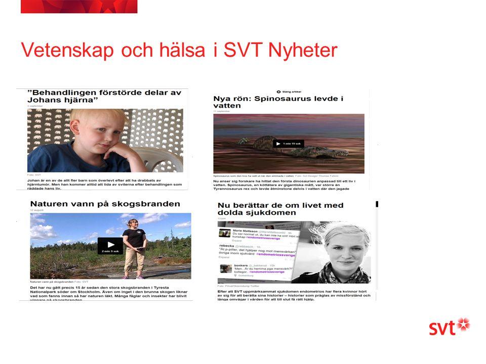 Vetenskap och hälsa i SVT Nyheter Sidfot