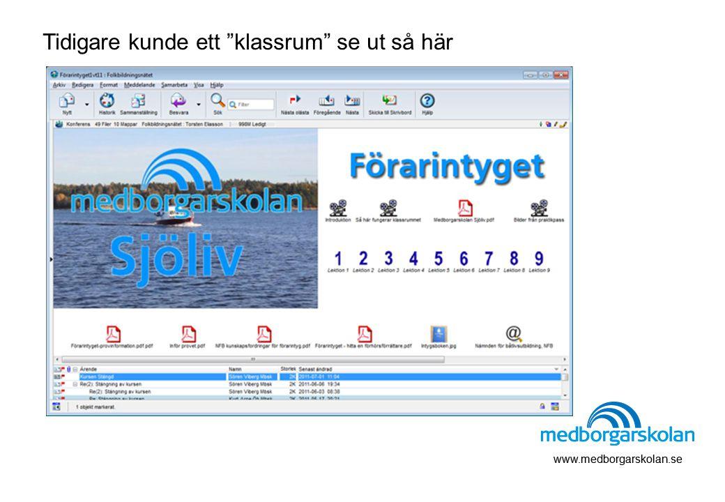 """www.medborgarskolan.se Tidigare kunde ett """"klassrum"""" se ut så här"""