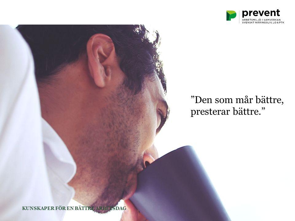 Hälsa och välbefinnande  Ökad produktivitet Färre sjukskrivningar och arbetsplatsrelaterade olyckor  Minskade kostnader  Bättre resultat Konkurrensfördel – behåll nyckelpersoner och säkra framtida kompetensförsörjning Hur lönar sig en bättre arbetsmiljö.