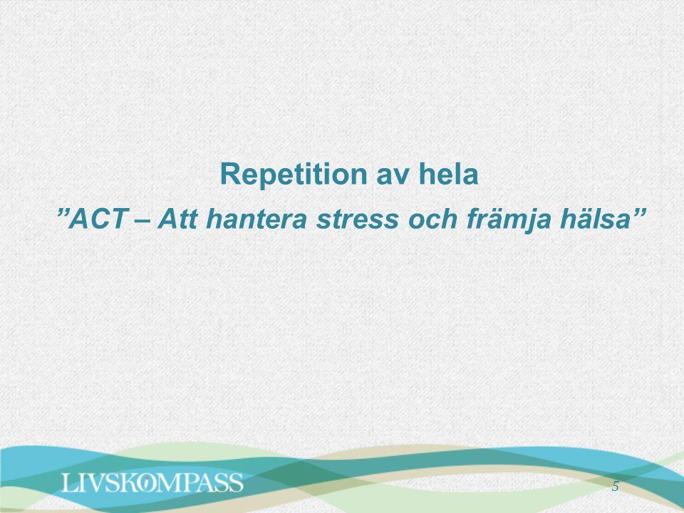 """Repetition av hela """"ACT – Att hantera stress och främja hälsa"""" 5"""