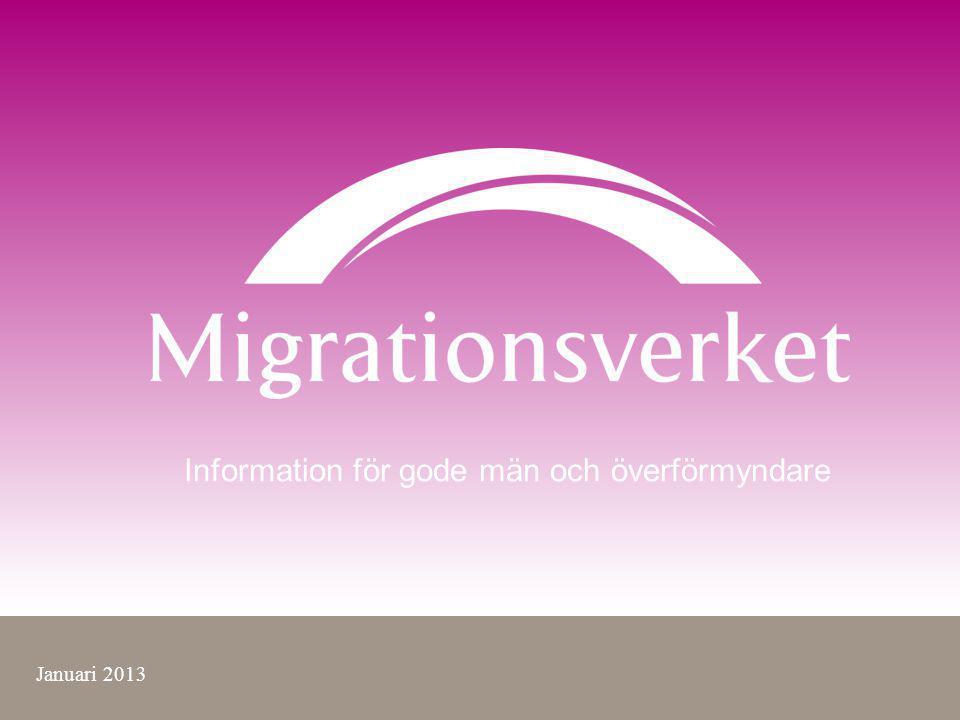 Information för gode män och överförmyndare Januari 2013
