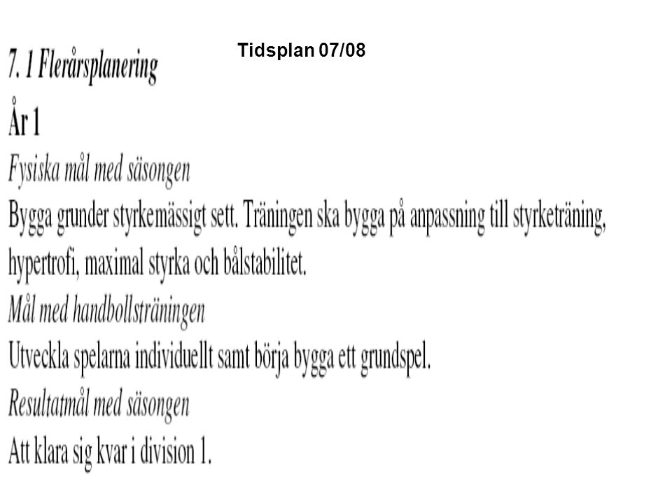 Tidsplan 07/08