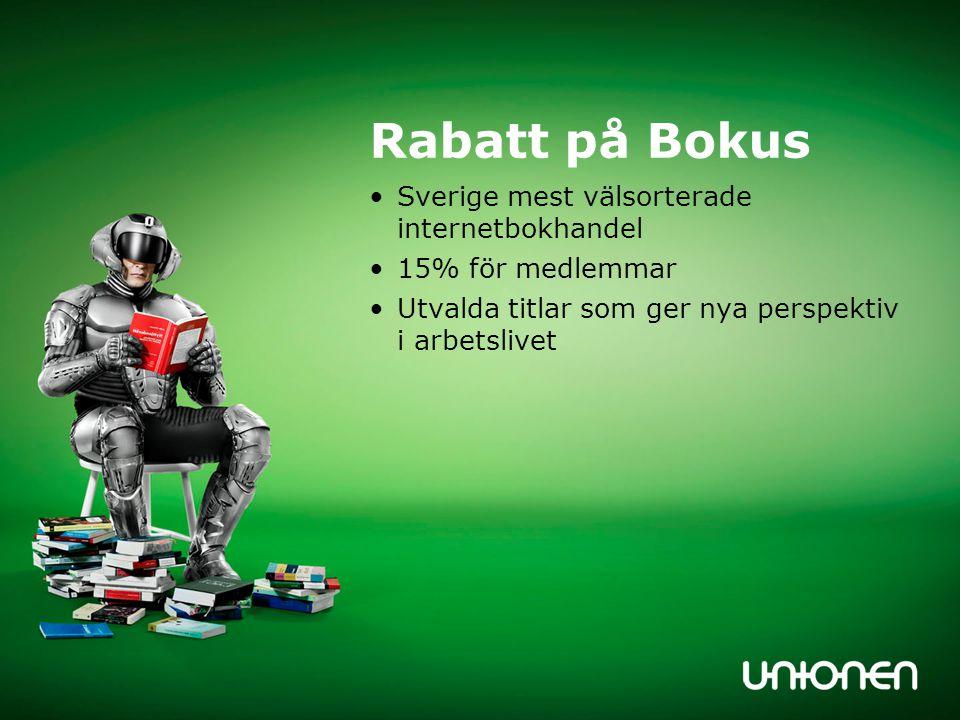 Rabatt på Bokus Sverige mest välsorterade internetbokhandel 15% för medlemmar Utvalda titlar som ger nya perspektiv i arbetslivet
