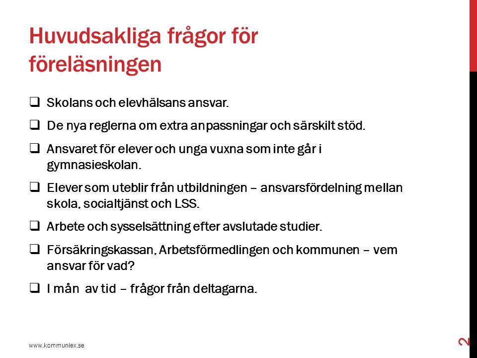 PROP.2013/14:160  Nya regler från 1 juli 2014 om stöd, särskilt stöd och åtgärdsprogram.