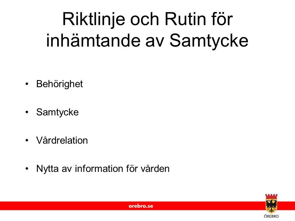 www.orebro.se Behörighet SITHS-kortsinlogg HSA-katalog Säkerhetstjänster