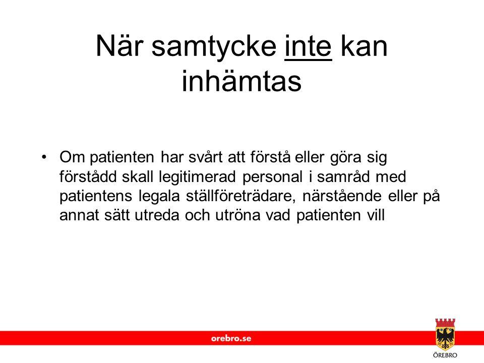 www.orebro.se Vårdrelation En vårdrelation startar när behovet av information uppstår för att t ex planera, bedöma eller utföra insatser.