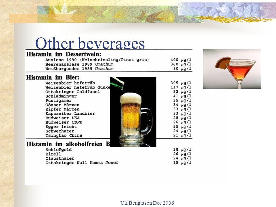 Ulf Bengtsson Dec 2006 Other beverages