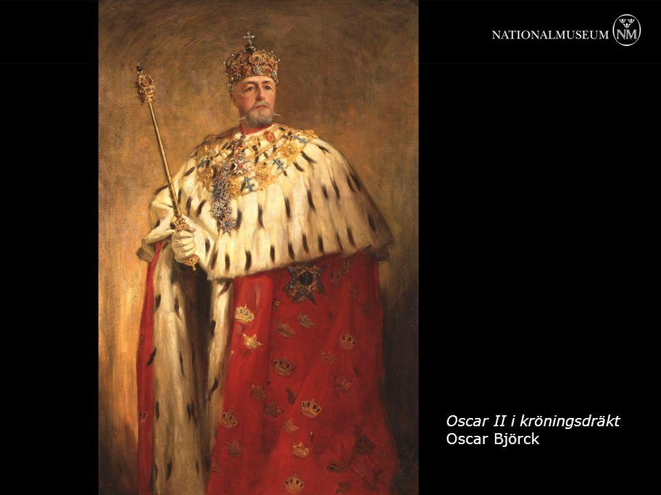 Oscar II i kröningsdräkt Oscar Björck