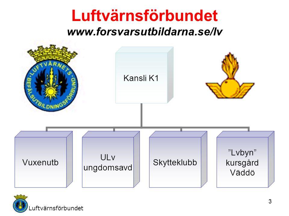 Luftvärnsförbundet 3 Luftvärnsförbundet www.forsvarsutbildarna.se/lv