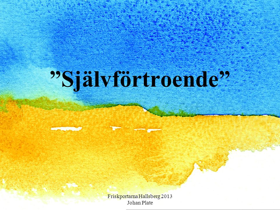 """""""Självförtroende"""" Friskportarna Hallsberg 2013 Johan Plate"""