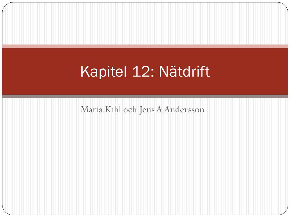 Maria Kihl och Jens A Andersson Kapitel 12: Nätdrift