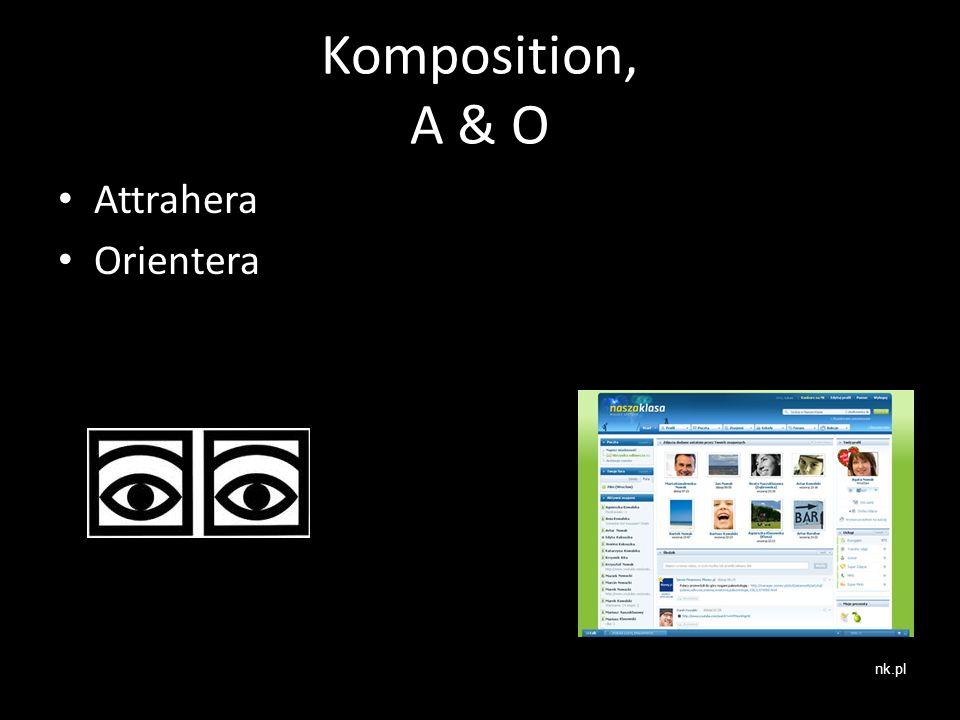 Komposition, A & O Attrahera Orientera nk.pl