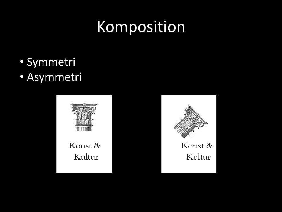 Komposition Symmetri Asymmetri