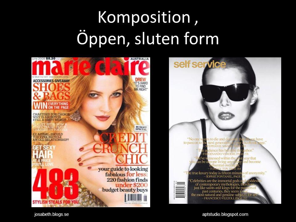 Komposition, Öppen, sluten form aptstudio.blogspot.comjosabeth.blogs.se
