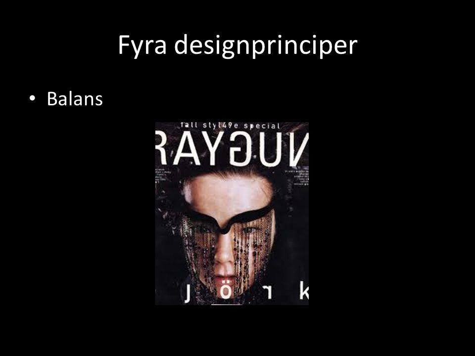 Fyra designprinciper Balans
