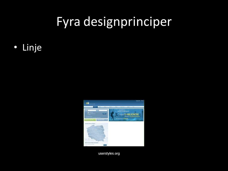 Fyra designprinciper Linje userstyles.org