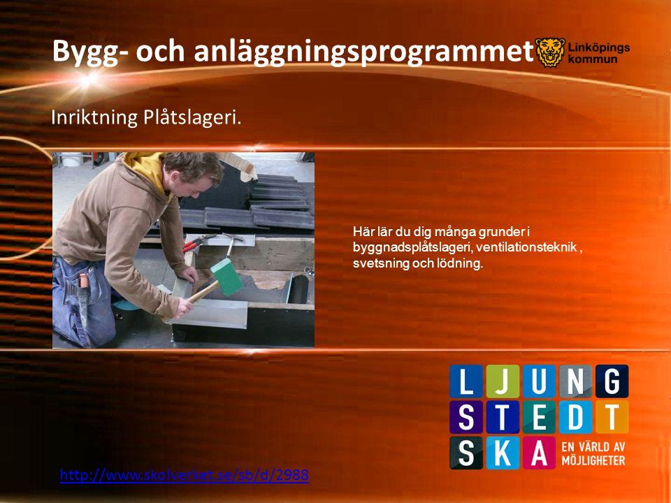 Bygg- och anläggningsprogrammet Årskurs 1 rundgången.