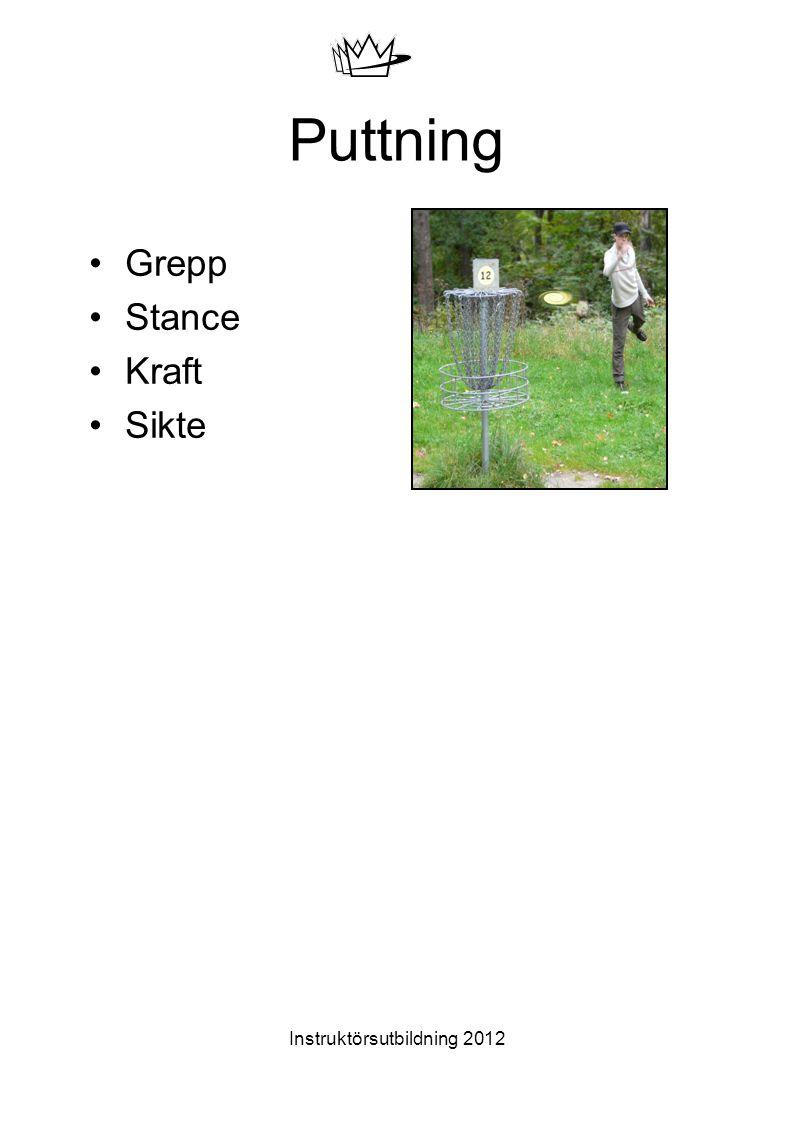 Instruktörsutbildning 2012 Puttning Grepp Stance Kraft Sikte