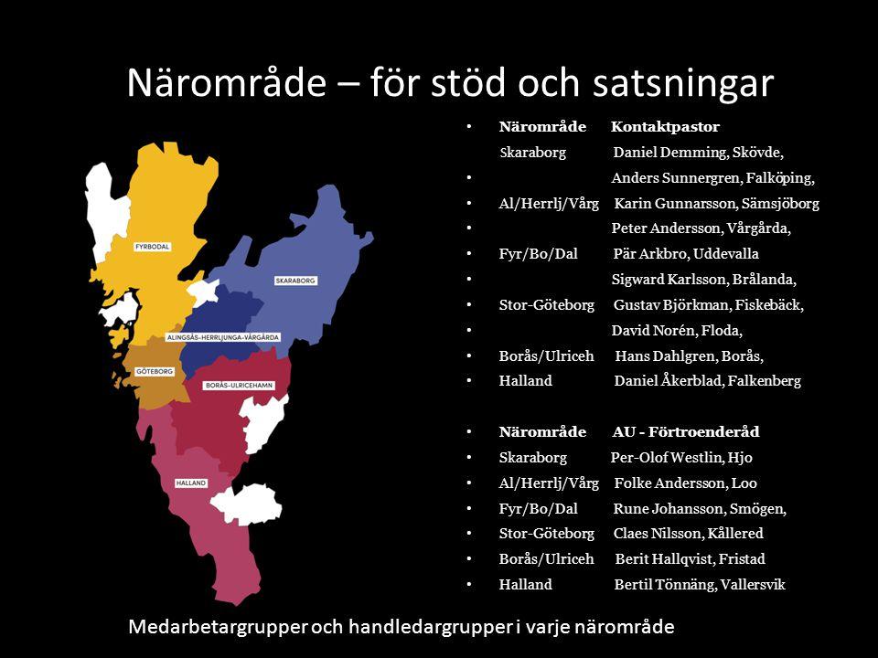 Närområde – för stöd och satsningar Närområde Kontaktpastor S karaborg Daniel Demming, Skövde, Anders Sunnergren, Falköping, Al/Herrlj/Vårg Karin Gunn