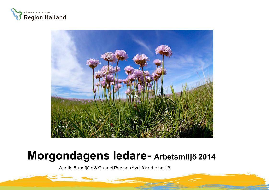 Morgondagens ledare- Arbetsmiljö 2014 Anette Ranefjärd & Gunnel Persson Avd. för arbetsmiljö