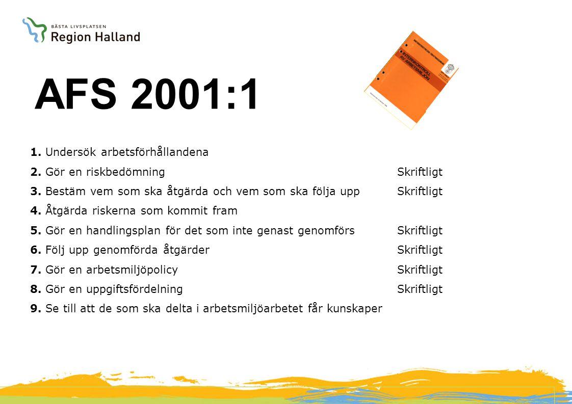 AFS 2001:1 AFS 2001:1 AFS föreskrifter Arbetsmiljöverket 1.
