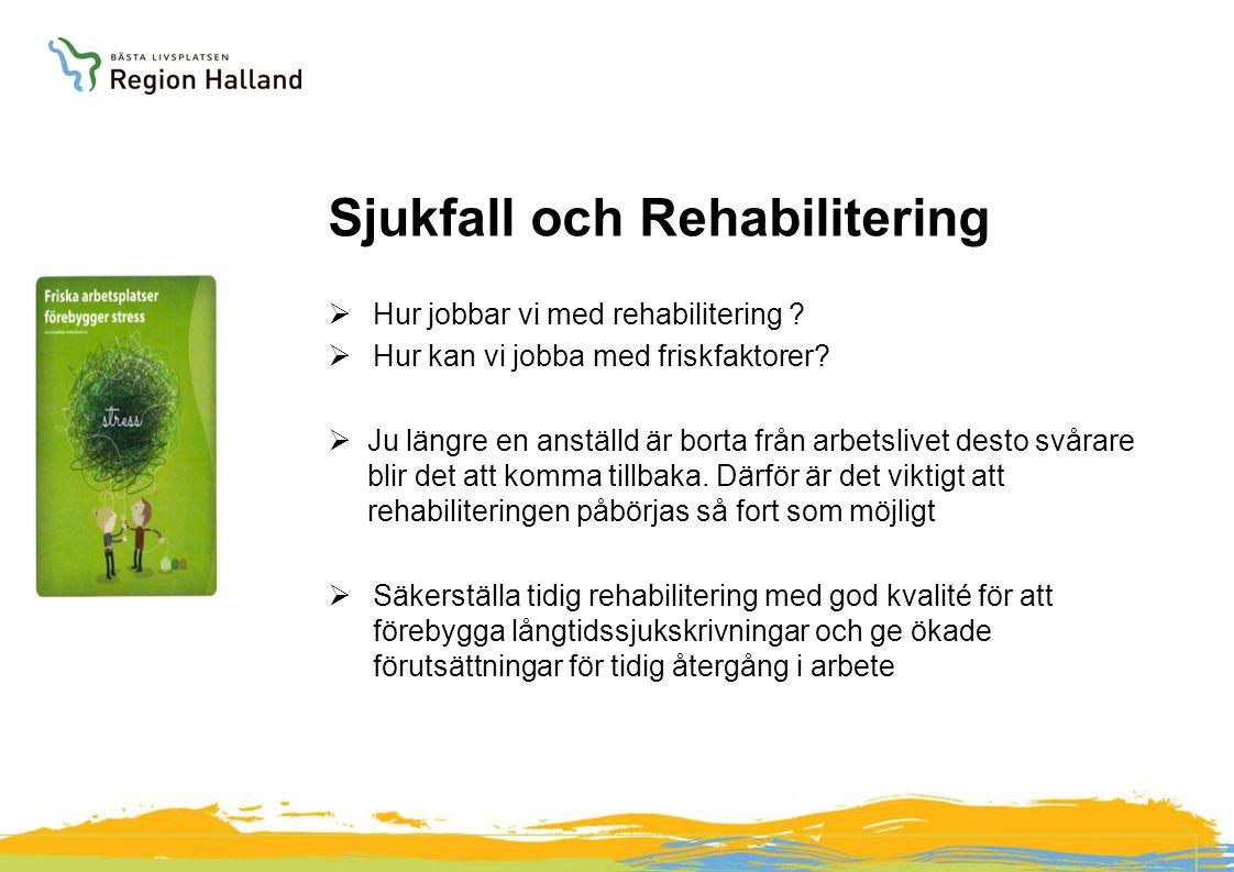 Sjukfall och Rehabilitering  Hur jobbar vi med rehabilitering .