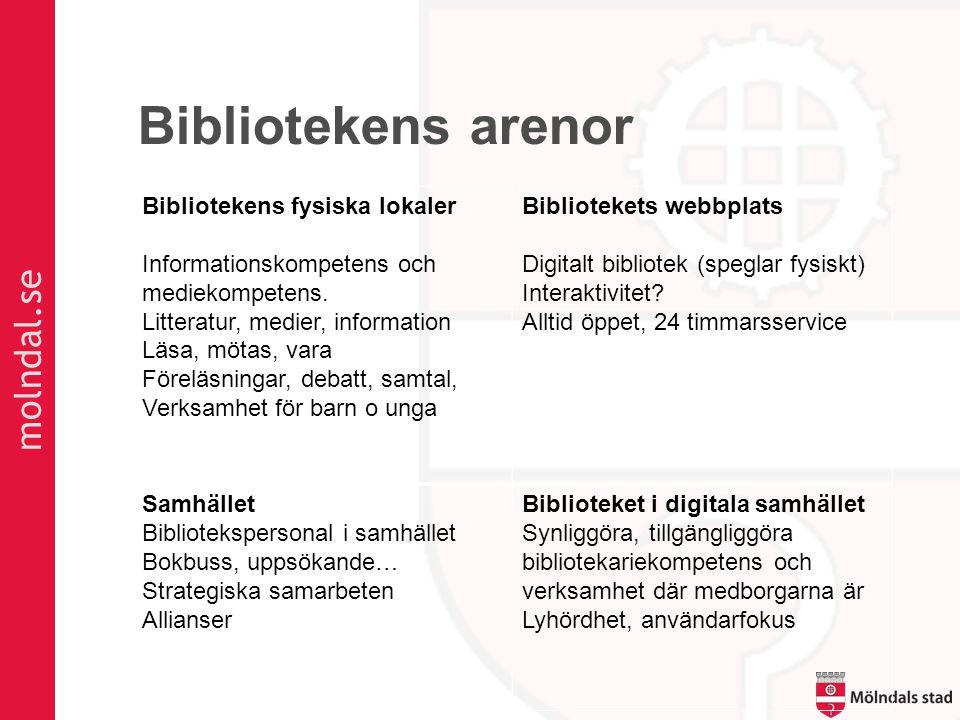 molndal.se Bibliotekens arenor Bibliotekens fysiska lokaler Informationskompetens och mediekompetens.