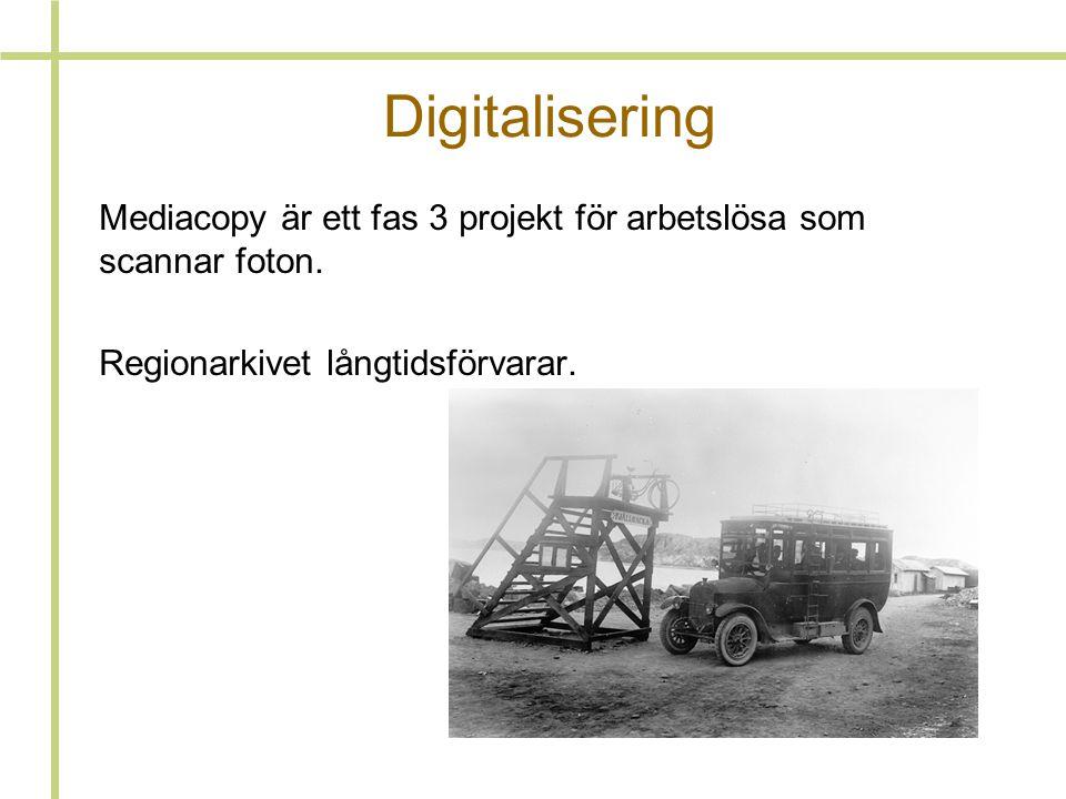 Digitalisering Mediacopy är ett fas 3 projekt för arbetslösa som scannar foton.