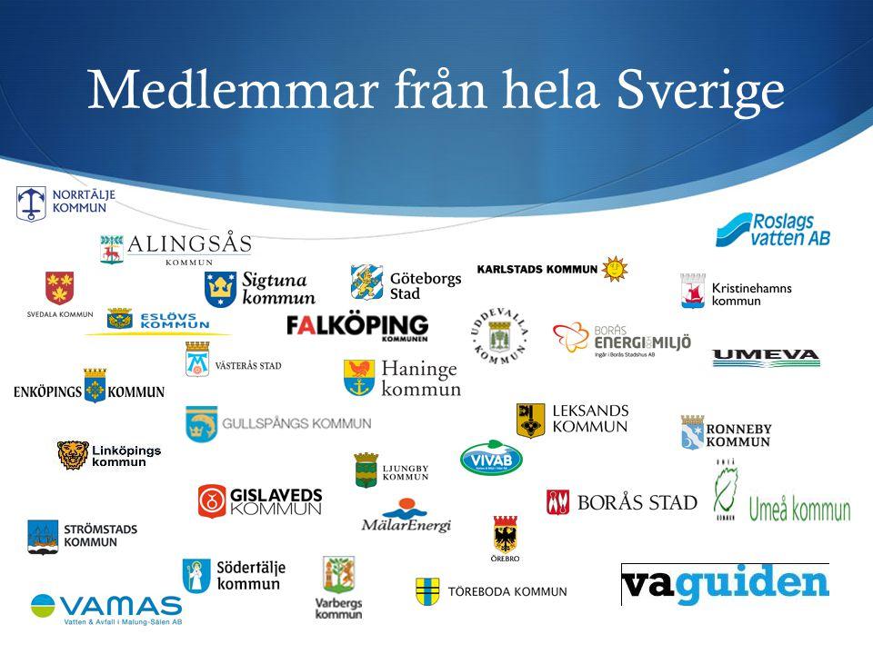Medlemmar från hela Sverige