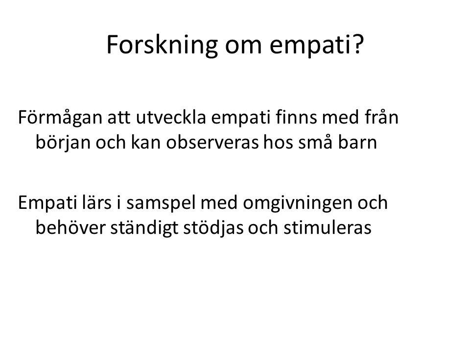 Forskning om empati.