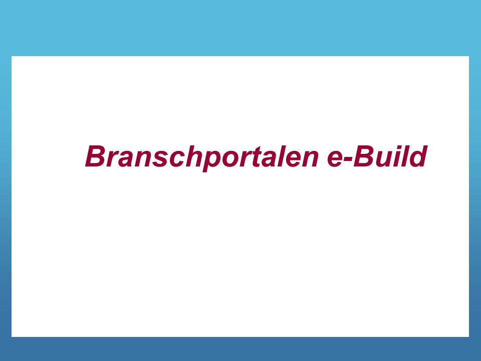 Branschportalen e-Build