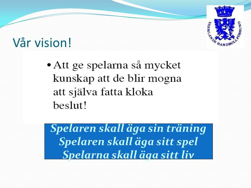 Vår vision! Spelaren skall äga sin träning Spelaren skall äga sitt spel Spelarna skall äga sitt liv