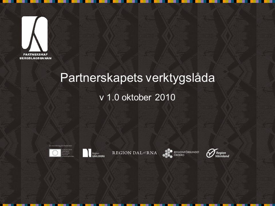 Partnerskapets verktygslåda v 1.0 oktober 2010