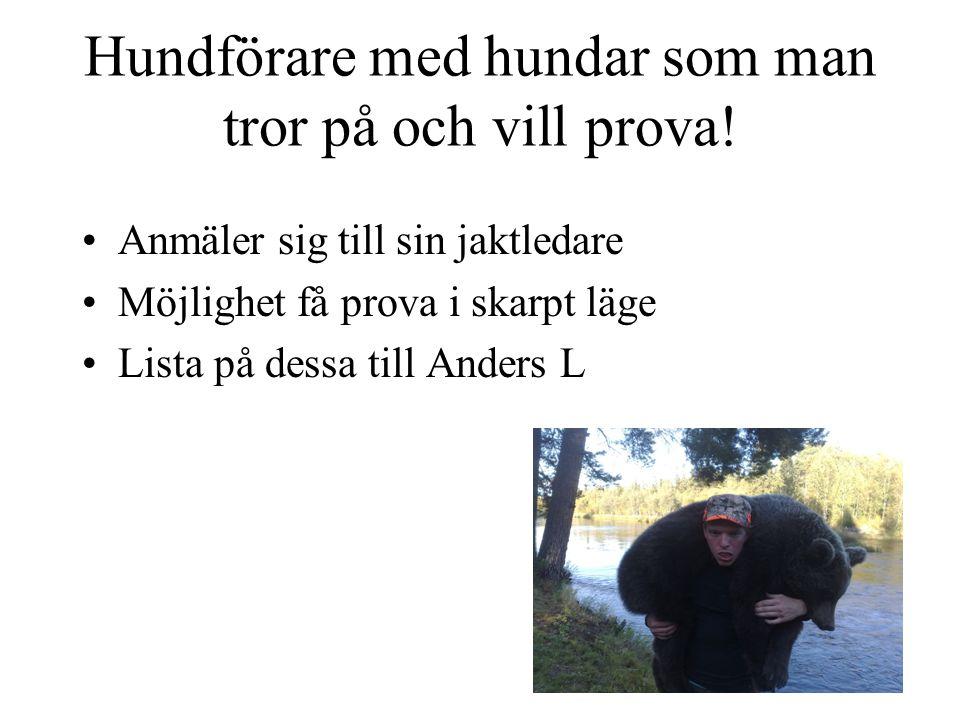 Hjälp jaktledare Anders Lindkvist (Ordinarie) 070-578 29 04 Jan Härjebäck 070-554 31 07 Emil Gunnarsson076-824 94 33 Andreas Martinsson 073-0527657