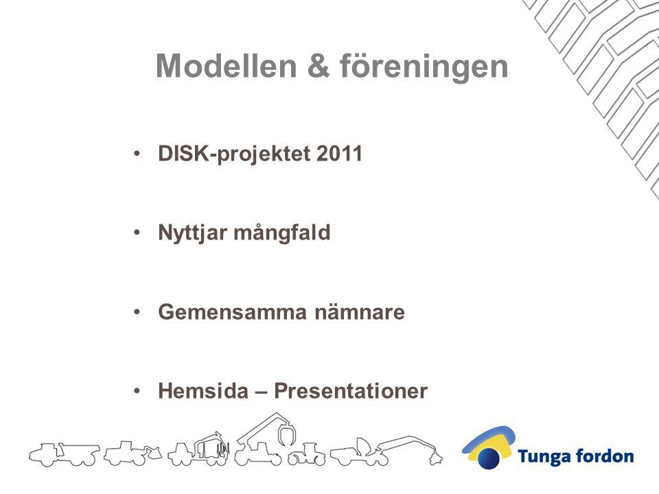 Modellen & föreningen DISK-projektet 2011 Nyttjar mångfald Gemensamma nämnare Hemsida – Presentationer