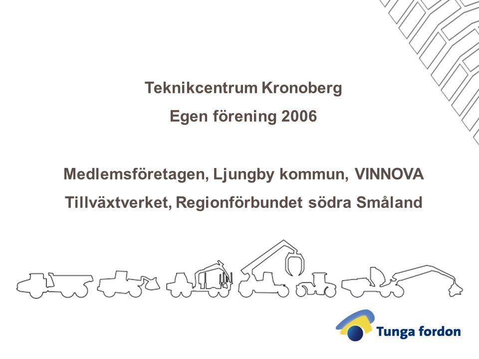 Teknikcentrum Kronoberg Egen förening 2006 Medlemsföretagen, Ljungby kommun, VINNOVA Tillväxtverket, Regionförbundet södra Småland