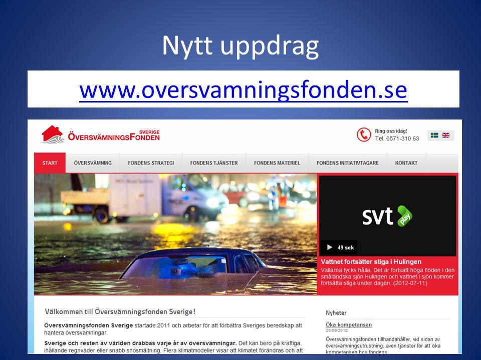 Nytt uppdrag www.oversvamningsfonden.se