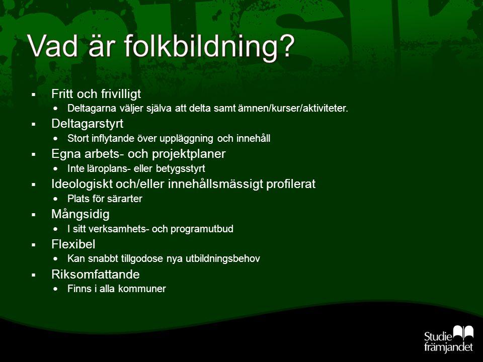  Det finns 10 studieförbund i Sverige.  Varför finns det 10 olika studieförbund?  Vad heter de?