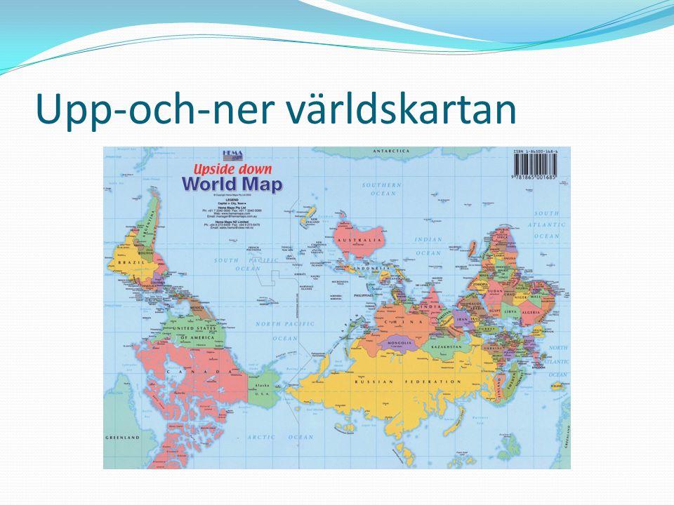 Upp-och-ner världskartan