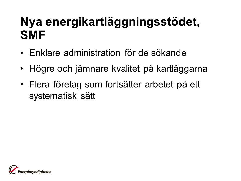 Lag om energikartläggning Stora Företag Lagen om energikartläggning-Stora företag, Hänvisar till standard för energikartläggning, SS-EN 16247-1:2012) http://www.energimyndigheten.se/Foretag/Energikartlag gning-i-stora-foretag/http://www.energimyndigheten.se/Foretag/Energikartlag gning-i-stora-foretag/ För mer information kontakta: Martina Berg 016-544 23 10 martina.berg@energimyndigheten.se