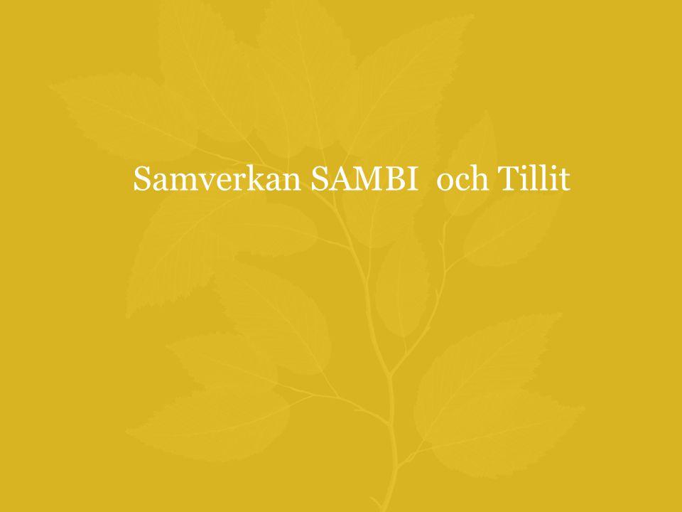 Samverkan SAMBI och Tillit