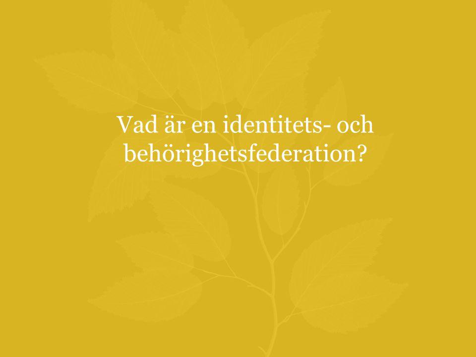 Vad är en identitets- och behörighetsfederation?
