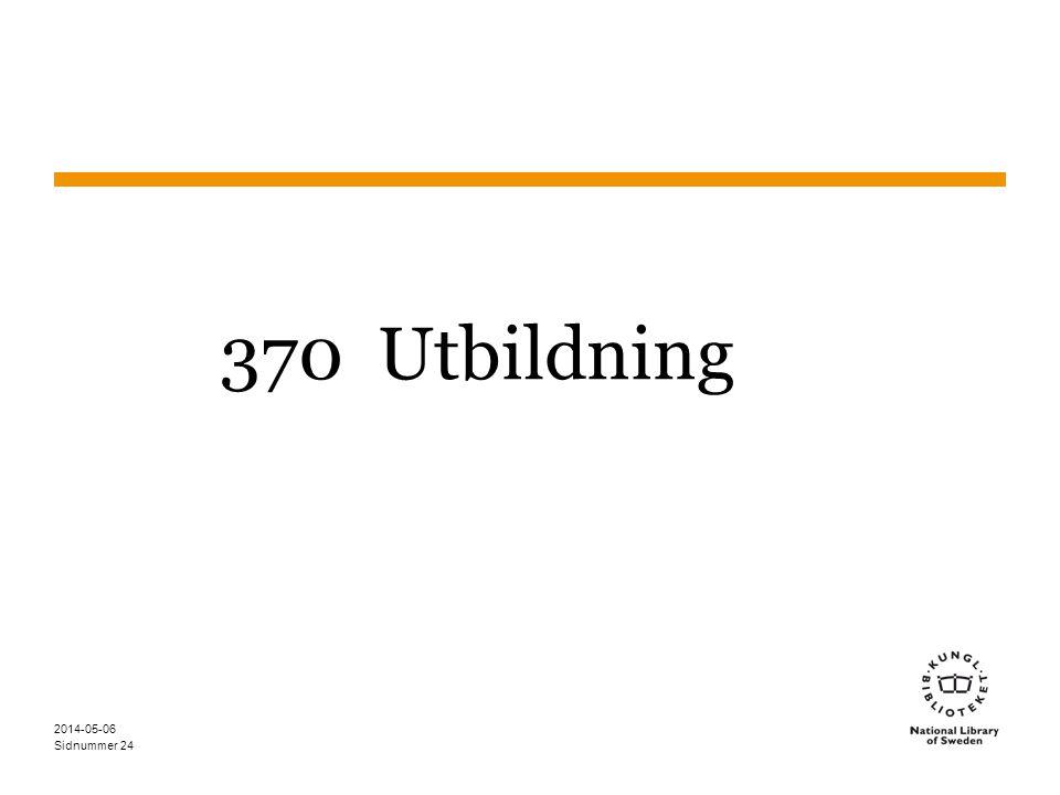Sidnummer 370 Utbildning 2014-05-06 24